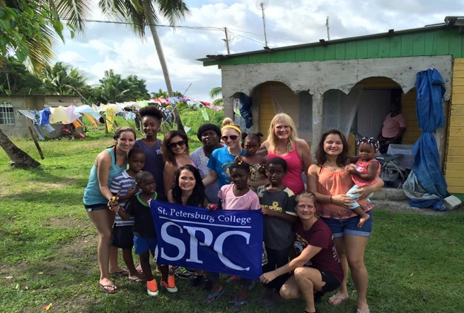 SPC Students study dental hygiene in Jamaica.