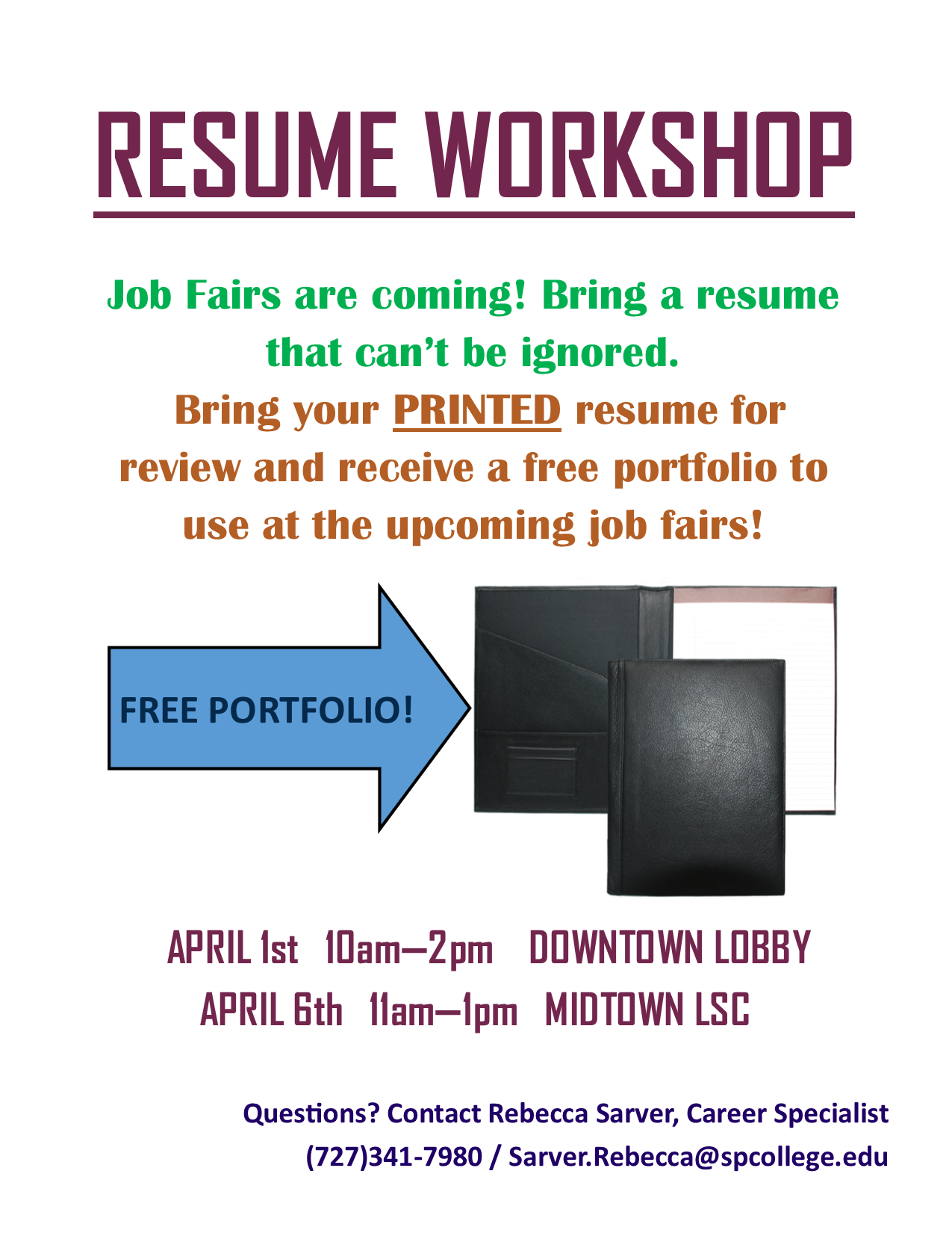 Resume Workshops are coming soon to DT MT Careers Internships