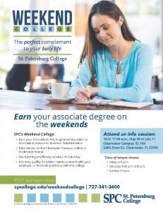 SPC Weekend College Flyer