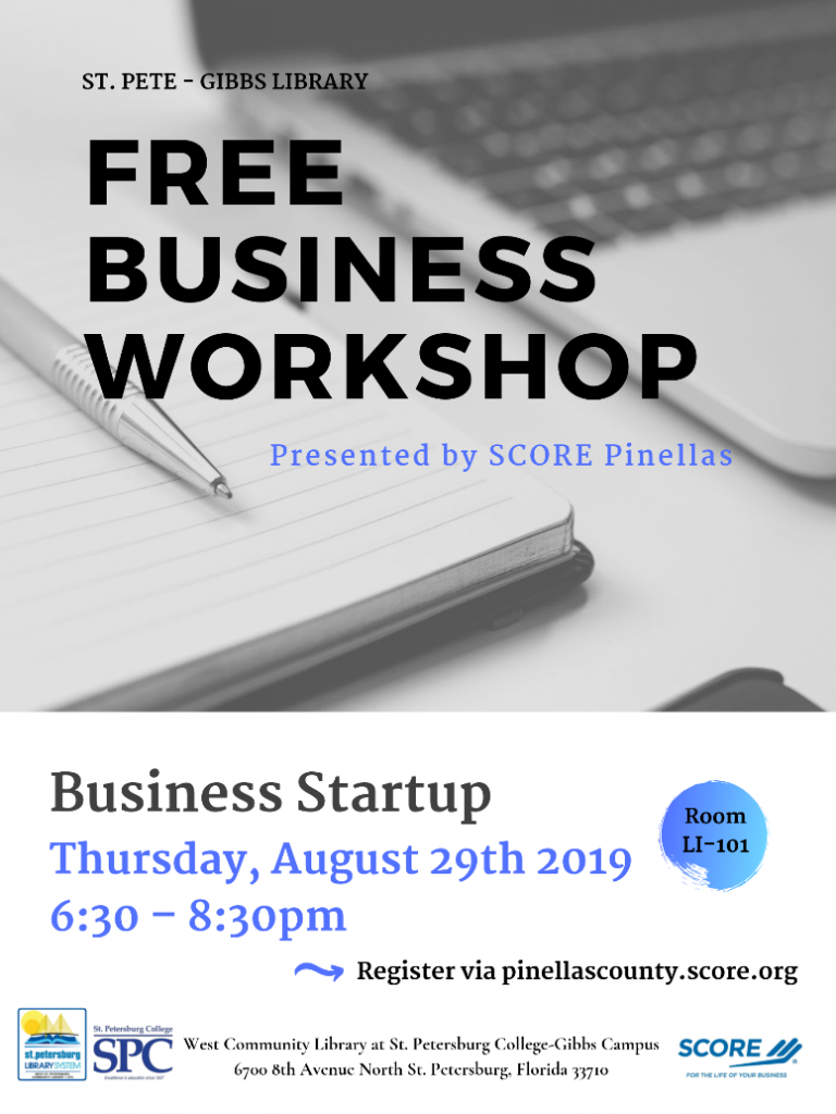 Free business workshops being held at St. Pete/Gibbs Campus and available for students and community