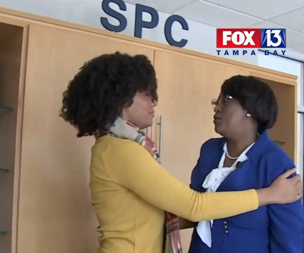 Dr. Tonjua Williams reunites with SPC Alumna Deniann Grant