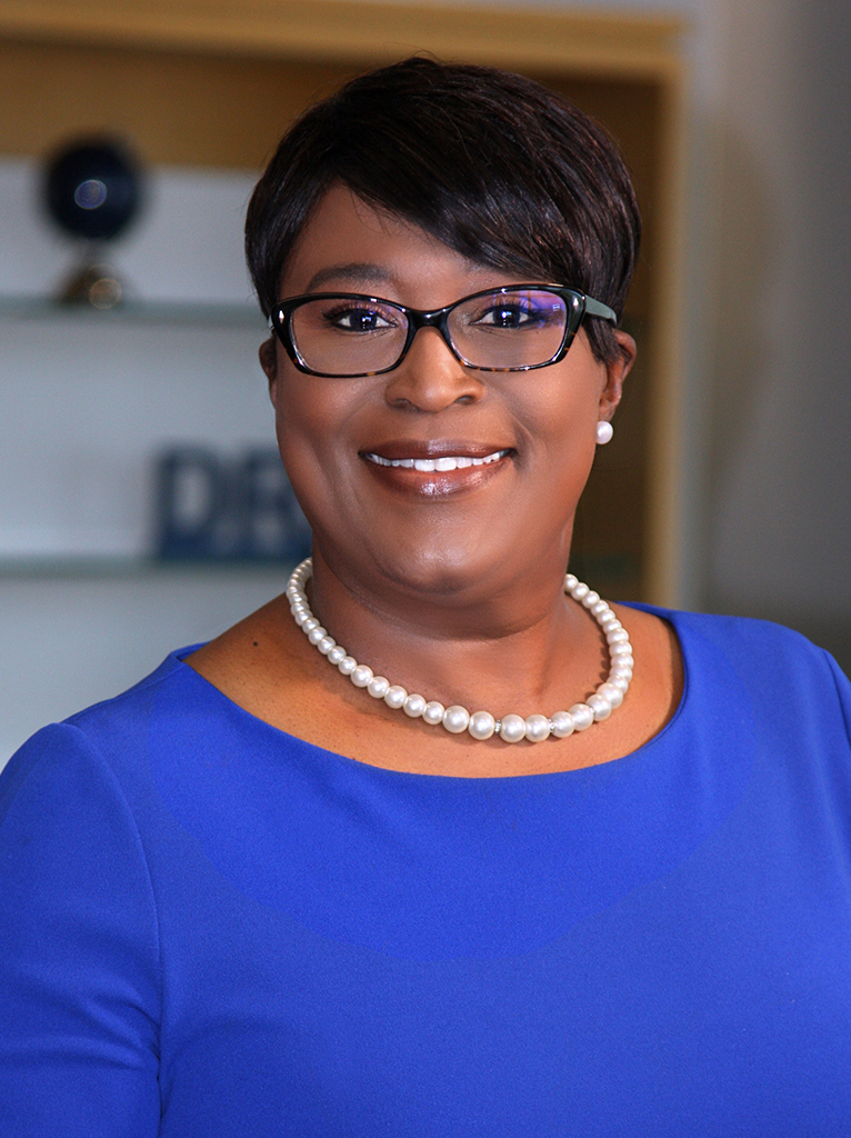 President Dr. Tonjua Williams is pictured in her office.