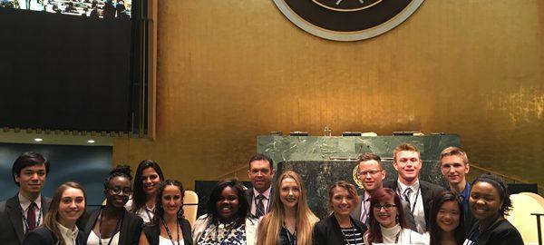 Model United Nations team members
