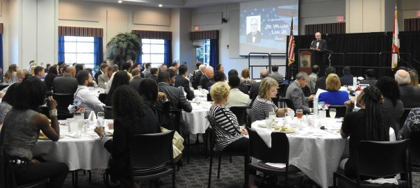 Photo of Dr. Law at Public Policy Leadership Speaker Series