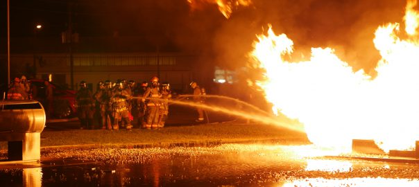 Class 51 Fire Academy Cadets Fight Liquid Propane Fire
