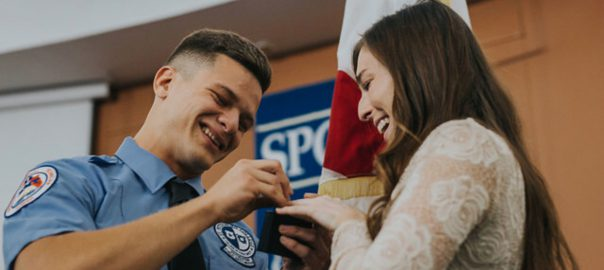 Romantic graduation for Fire Academy Class 51 grad Danny Gutierrez and his high school sweetheart