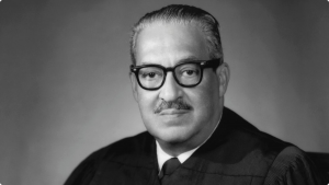 Portrait of Thurgood Marshall for African American History Month