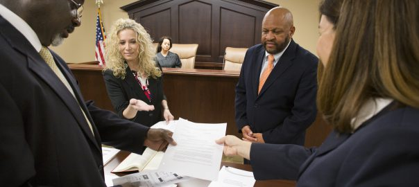 Courtroom staff with Paralegal Studies Program