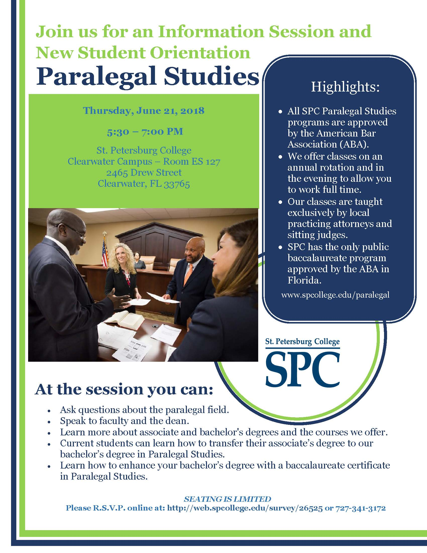 Spc Paralegal Studies Information Session Public Safety Public