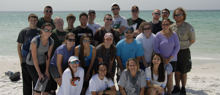 Students in the SPC Field Biology of Florida class at Topsail Hill Preserve State Park