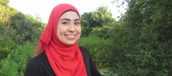 St. Petersburg College alumna Salwa Shamsi, Florida College System Chancellor's Student of the Month award winner for January 2015.