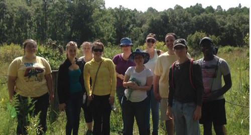 Botany students at Brooker Creek