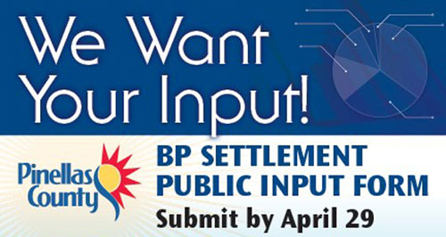 Pinellas County seeks input on BP settlement funds