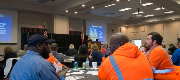 Utility workers at Muddy Water Blues conference