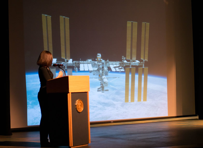 "Nicole Stott discusses living ""way, way off the grid"" on the International Space Station."