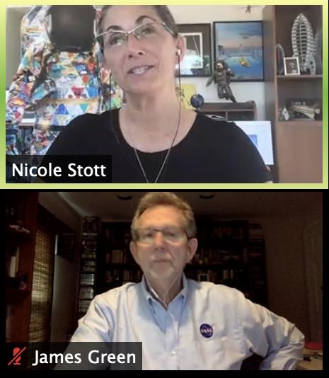 NASA Astronaut Nicole Stott and NASA Chief Scientist Dr. James Green