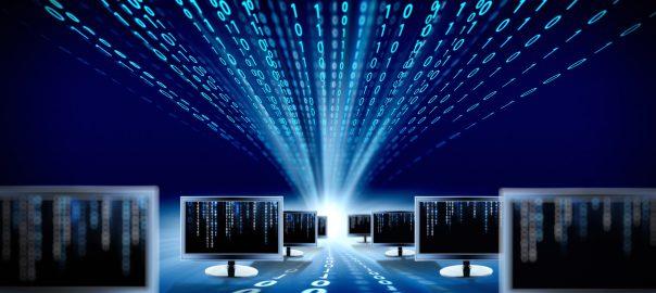 """binary code and computer monitors"""
