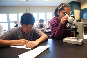 SPC students studying science