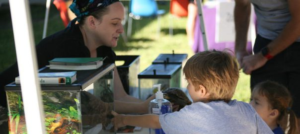 Kids interact with animals at SPC STEM Festival