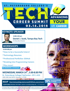 Spring Tech Career Summit Flyer