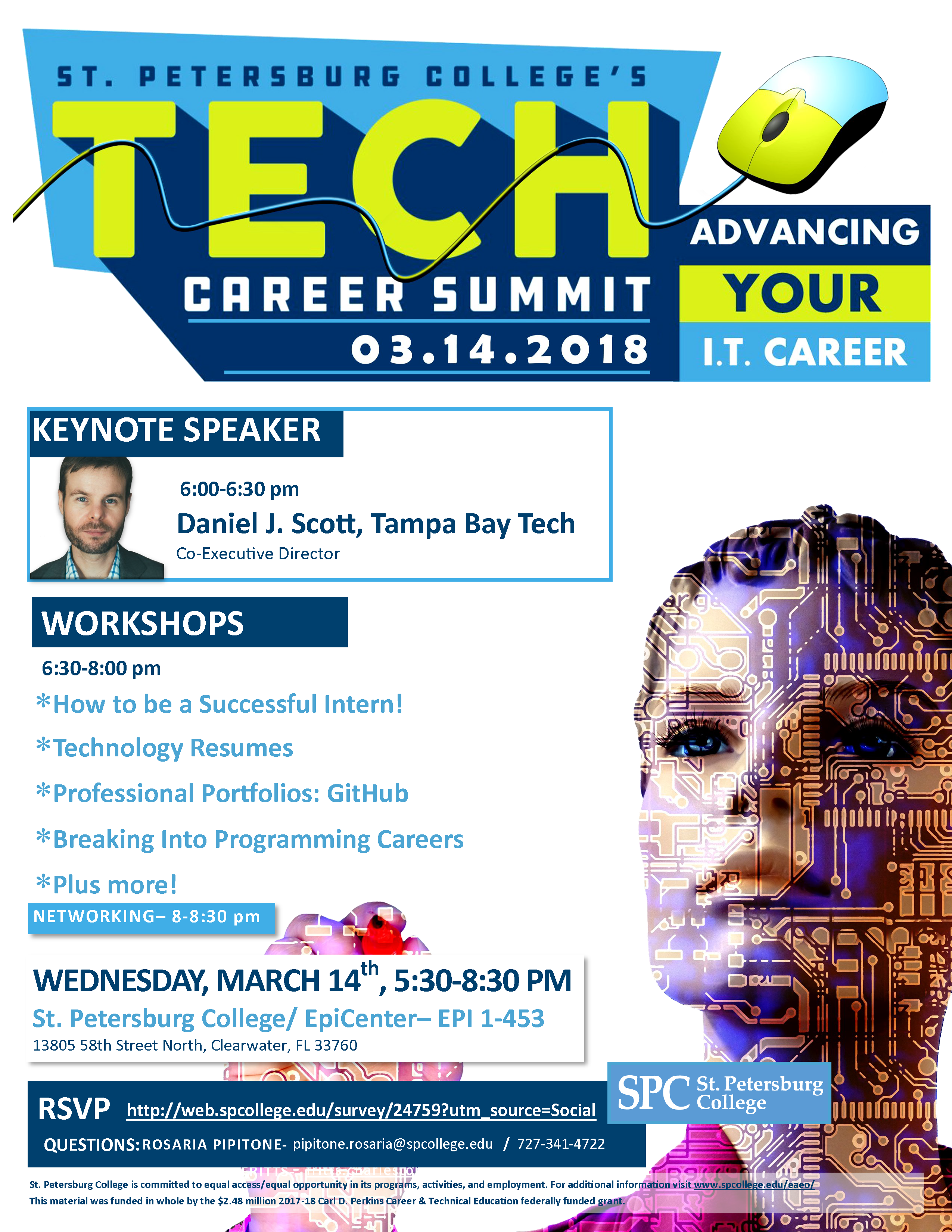 SPC presents the spring Tech Career Summit on March 14