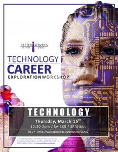 Flier for Technology Career Exploration Workshop