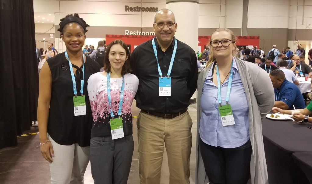 Professor Michael Gordon with SPC Students at the Cisco Live conference