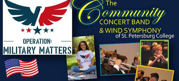 Concert flier for Operation: Military Matters