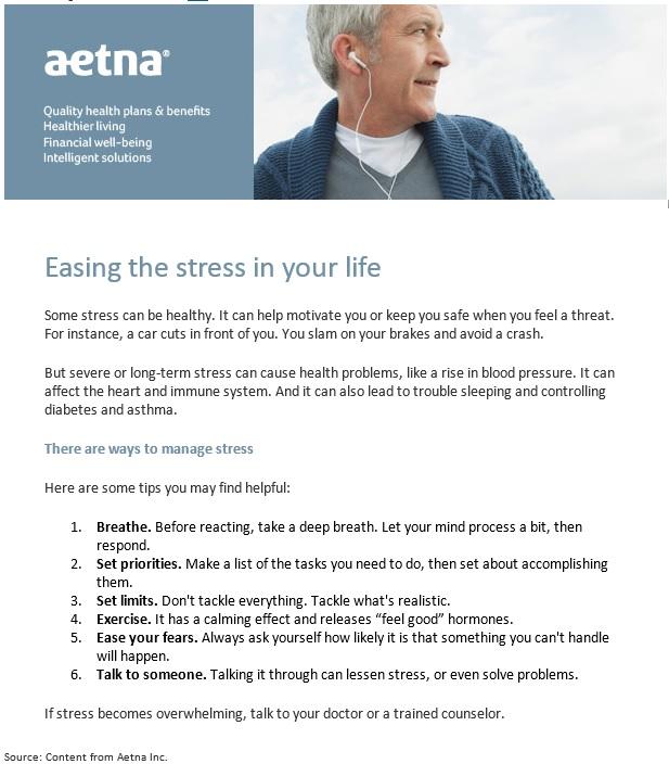 Stress Aetna